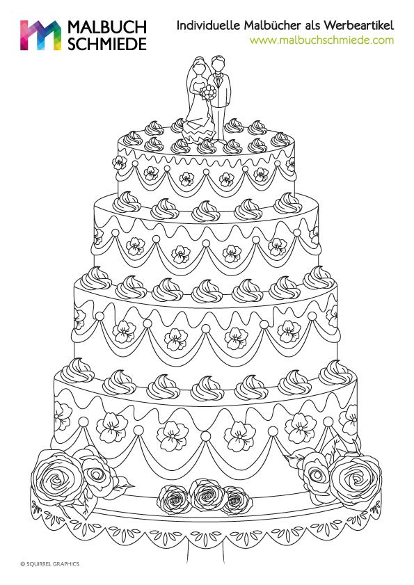 einhorn malvorlage torte  coloring and malvorlagan