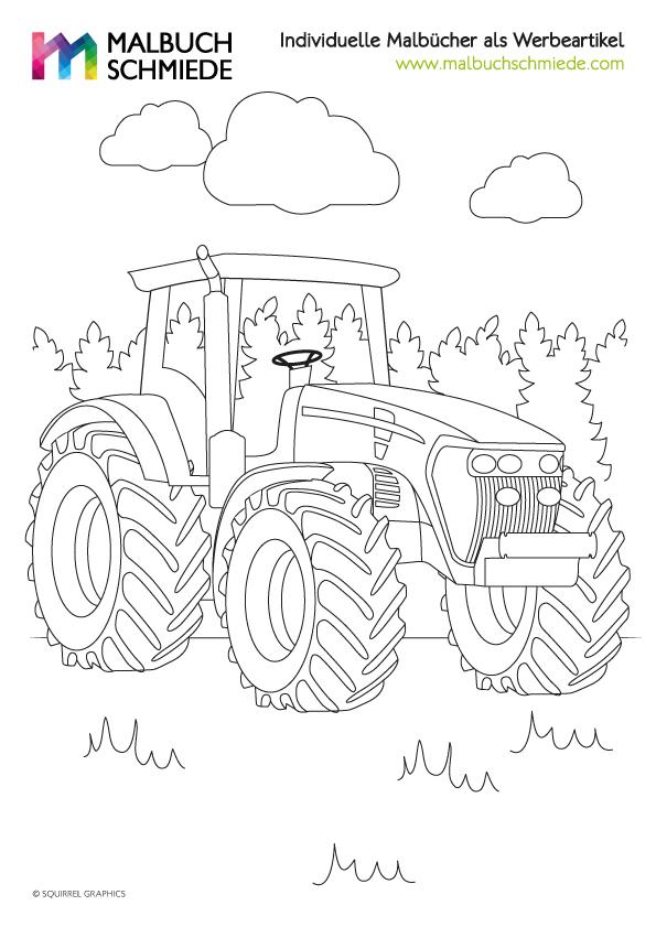 ausmalbilder bauernhof traktor  x13 ein bild zeichnen